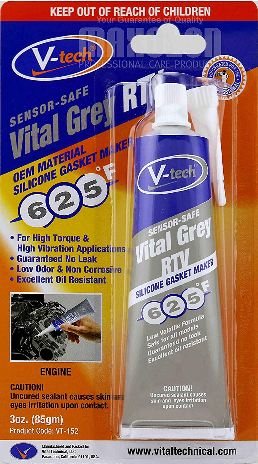 V-Tech Gasket Makers Silicone Instant Gasket Maker 85g Vital Black RTV Vital Technical