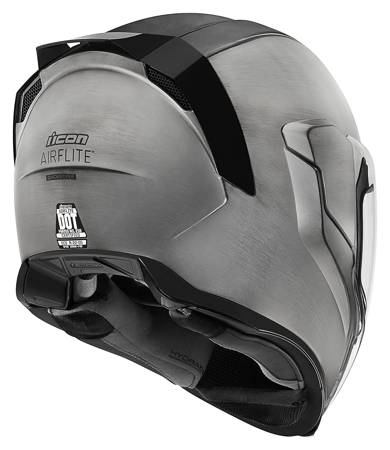 Amazon.es: Casco de motocicleta Airflite Quicksilver de Icon, color plateado