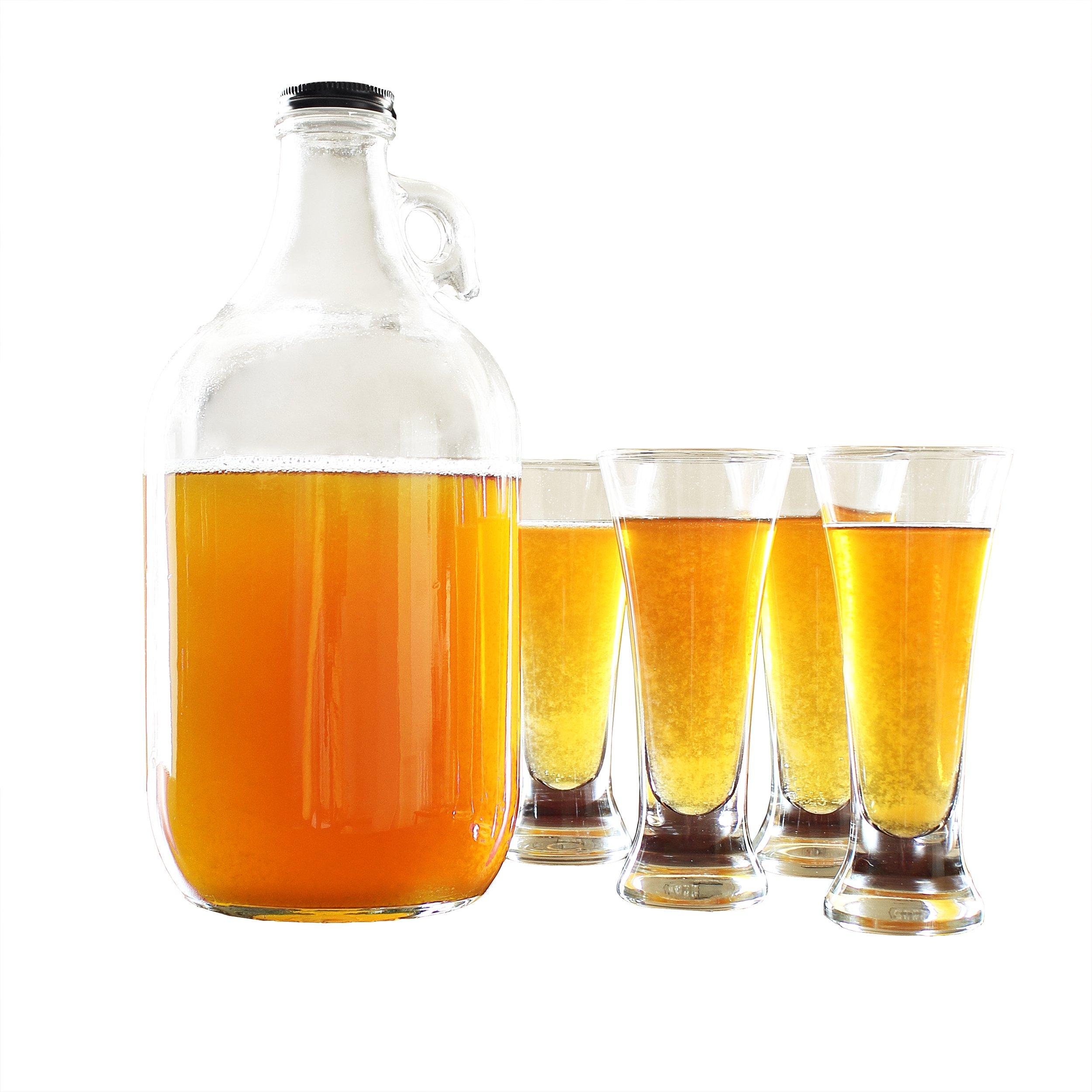 Cathy's Concepts Craft Beer Growler & Tasters Set