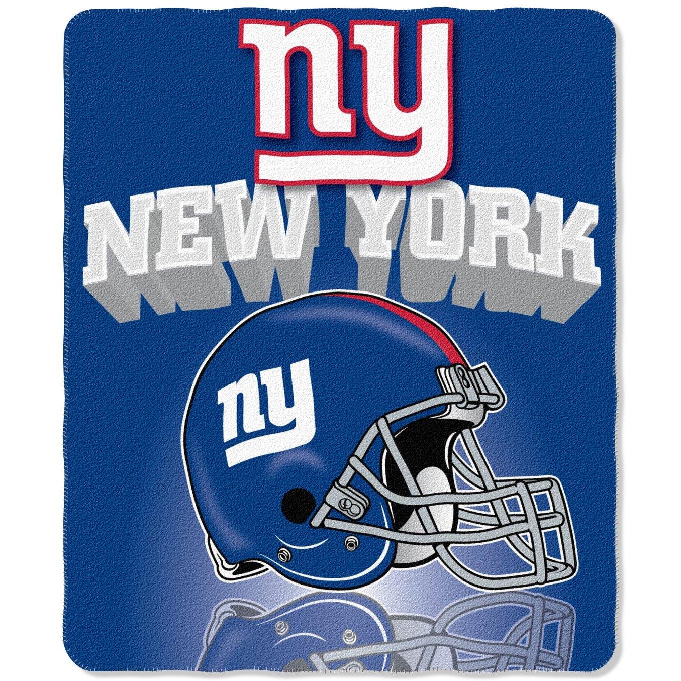 NFL New York Giants Gridiron Fleece Throw 50 inches x 60 inches