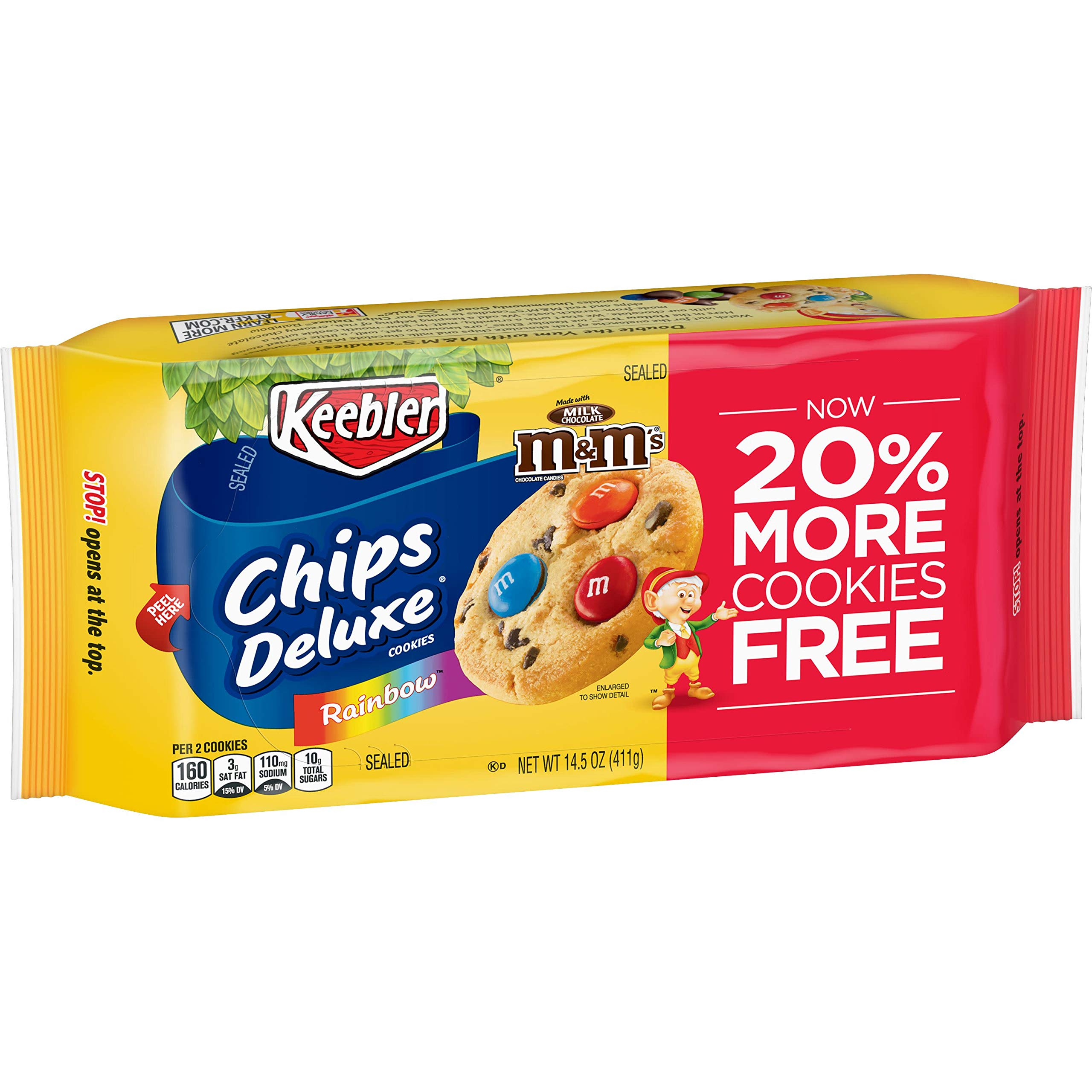 Chips Deluxe, Cookies, Rainbow with M&Ms, 14.5 Ounce