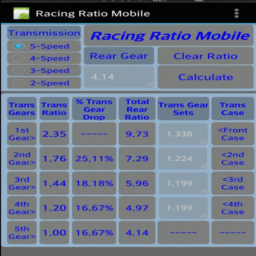 Racing Ratio Mobile Demo (Ratio Transmission)