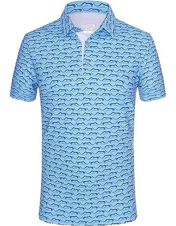585970c8bd08 EAGEGOF Regular Fit Men s Shirt Stretch Tech Performance Golf Polo Shirt  Short Sleeve