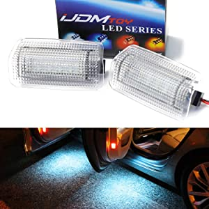 iJDMTOY (2 Full LED Side Door Courtesy Light Assy Compatible with Lexus is ES GS LS RX GX LX Toyota Avalon Sienna Venza Camry Prius 4Runner, OEM Replacement, Powered by 18-SMD Ice Blue LED