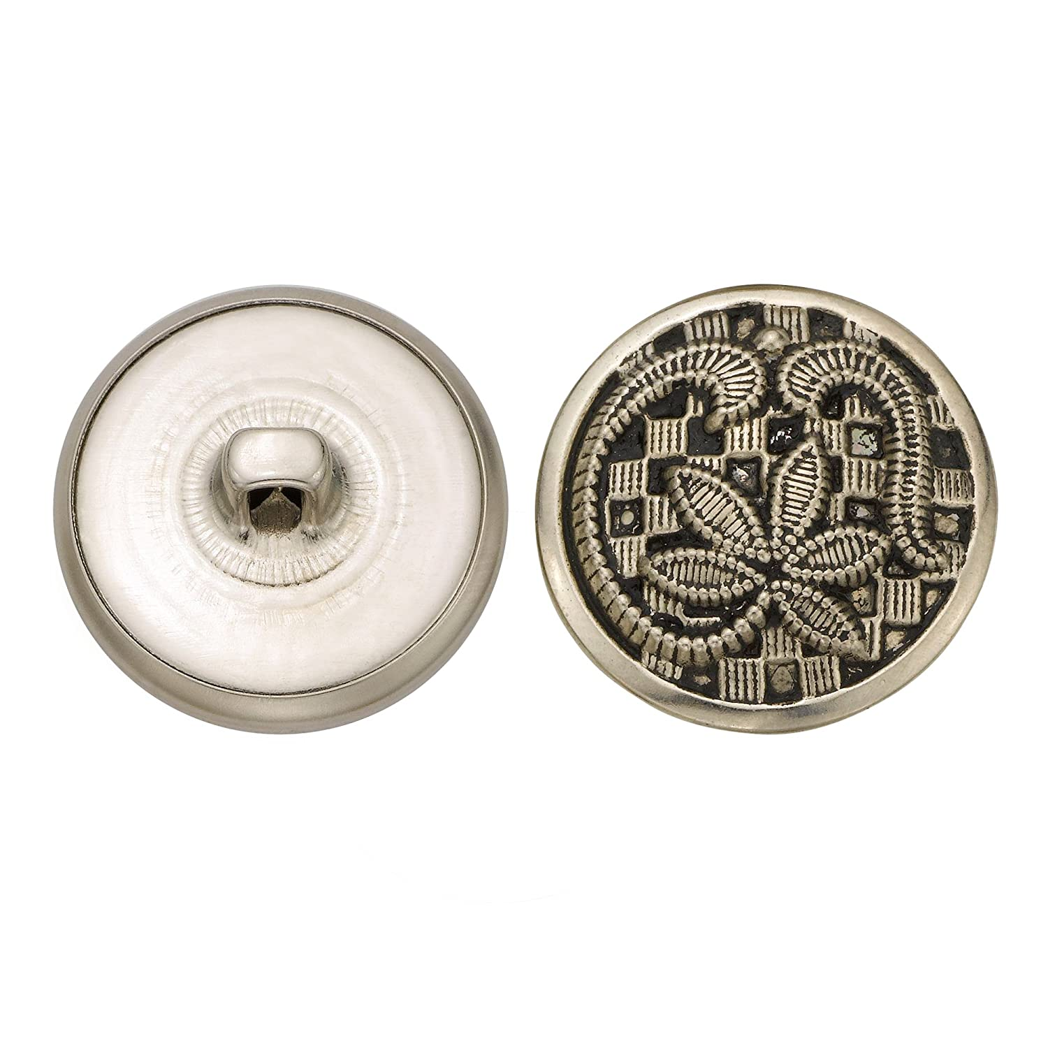 Antique Nickel Size 36 Ligne C/&C Metal Products 5140 Leaf Over Checkers Metal Button 36-Pack C/&C Metal Products Corp