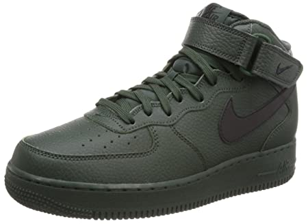 NIKE Men's Air Force 1 Mid '07 Basketball Shoe, Grove Green/Black-