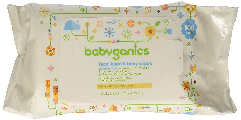 BabyGanics, Thick n Kleen, Cara Extra Suave, Toallitas para Mano y Bebé, Sin Fragnancia, 100 Toallitas: Amazon.es: Alimentación y bebidas