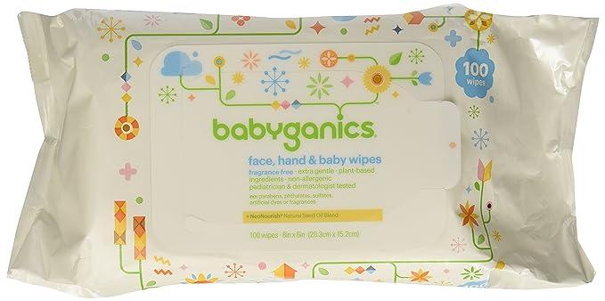 BabyGanics, Thick n Kleen, Cara Extra Suave, Toallitas para Mano y Bebé