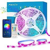 Alexa LED lichtstrip 10m, Maxcio Smart RGB Ledstrip met afstandsbediening, LED strip lichtketting, Compatibel met Alexa…
