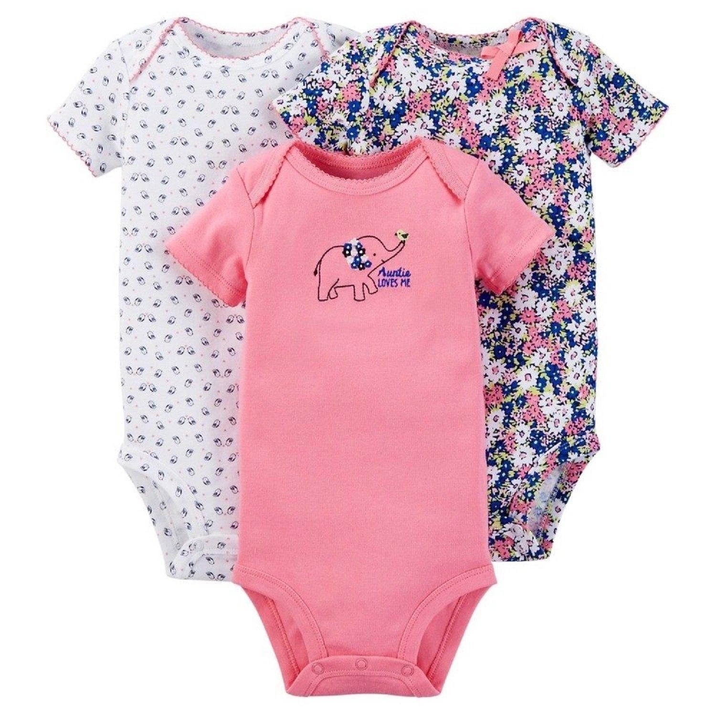 56c3c96b2771 Amazon.com  Carter s Just One You Baby Girls  3-Pack Bodysuit