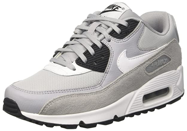 Amazon.com | Nike Womens Air Max 90 Running Shoe Wolf Grey/White-Black | Road Running