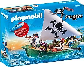 PirataAmazon Juegos esJuguetes 70151 Y Playmobil Pirates Barco vNmn08w