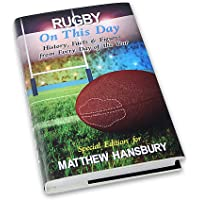 Personalised Rugby On This Day Book - Christmas Birthday Dad Son Grandad Gift