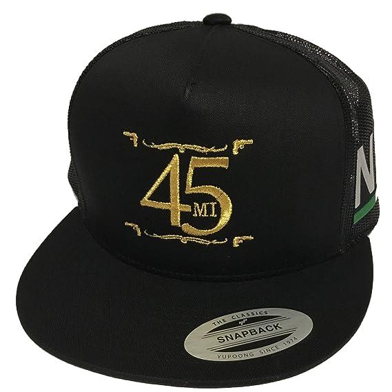 El Fantasma Y Su 45 Nayarit 2 Logos Hat Black Mesh Snapback at Amazon Mens Clothing store: