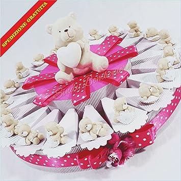Bomboniere Geburt Taufe Kuchen Bonbons Bär Mädchen Mit