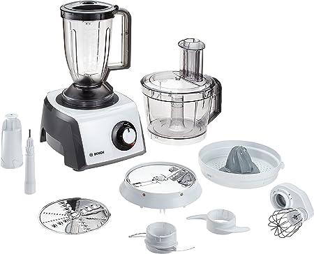 Bosch MCM3200W 800W 2.3L Color blanco - Robot de cocina (2,3 L, Color blanco, Giratorio, 3 discos, De plástico, Acero inoxidable): Amazon.es: Hogar