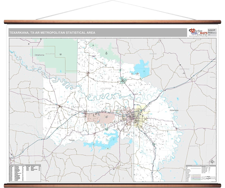 Texarkana Tx Zip Code Map.Amazon Com Marketmaps Texarkana Tx Metro Area Wall Map 2018