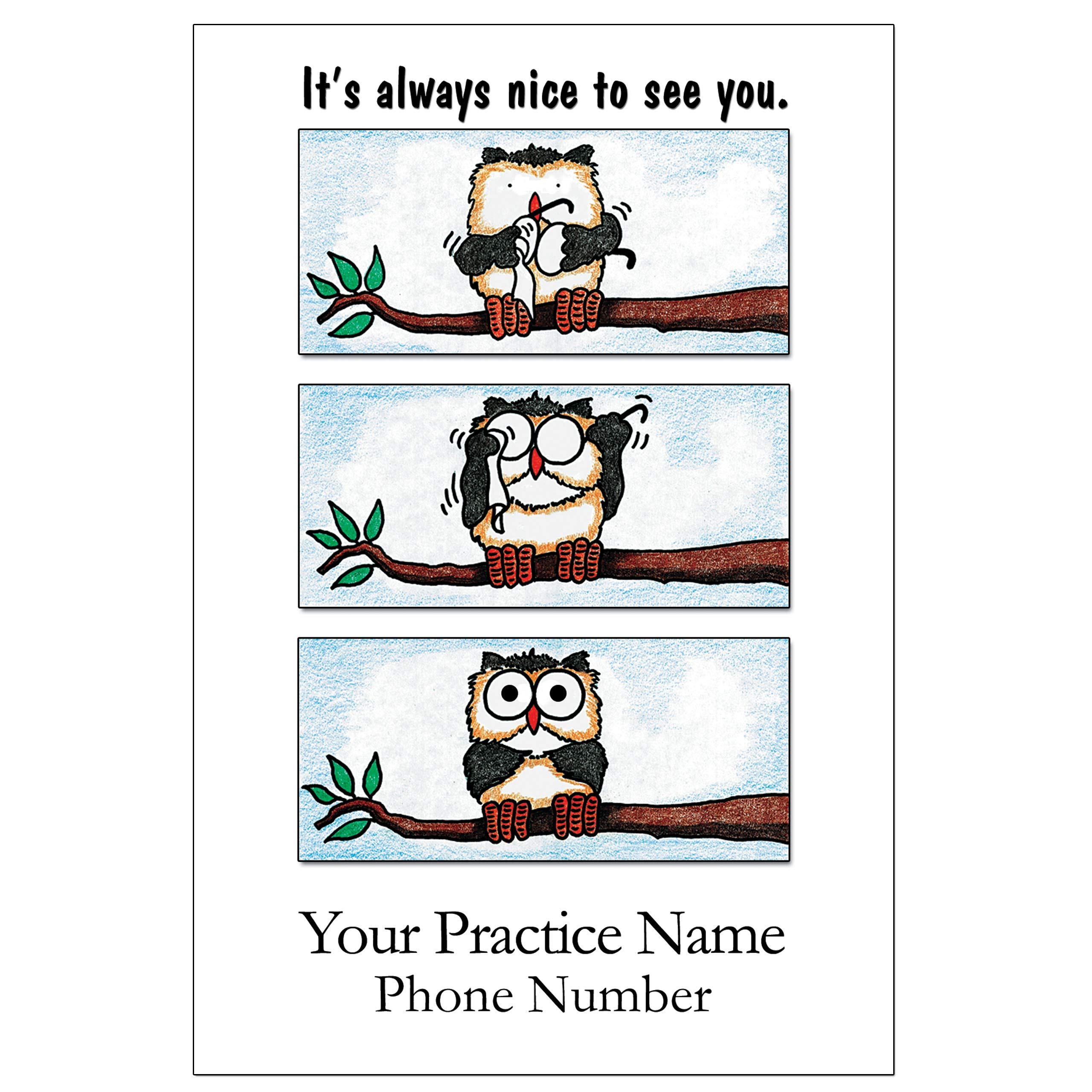 Appointment Reminder Postcards for Optometry. Customize Card Back with Practice Information. 4''x6'', Full-Color Front & Premium High Gloss UV Coating, Black Text on Back, Sturdy 14 Pt. (5000) by Custom Recall
