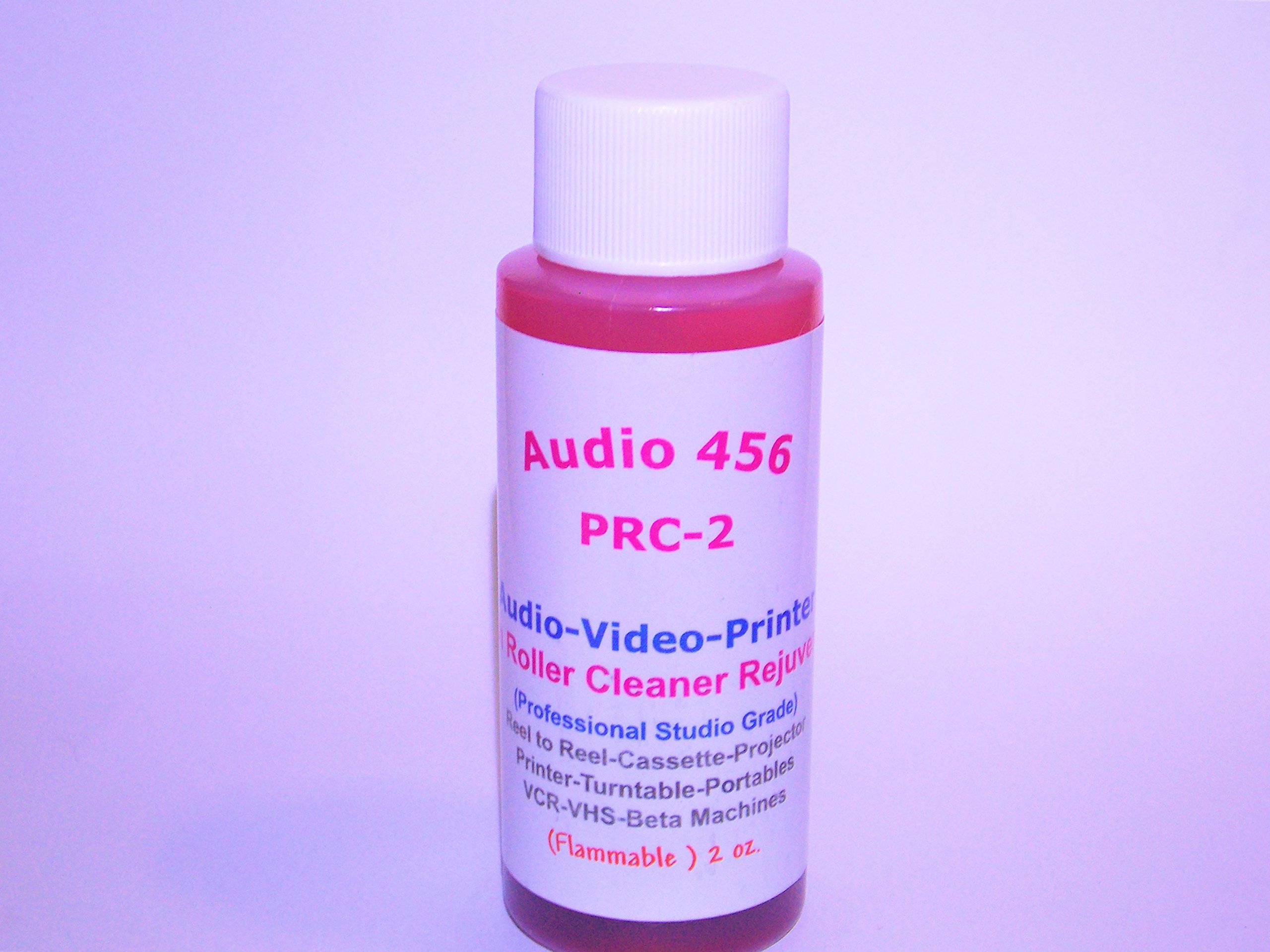 Audio 456 PRC-2 Tape Deck Audio/Video Pinch Roller Cleaner Rejuvenator (2 oz) .(formerly SR-Audio) by Audio 456