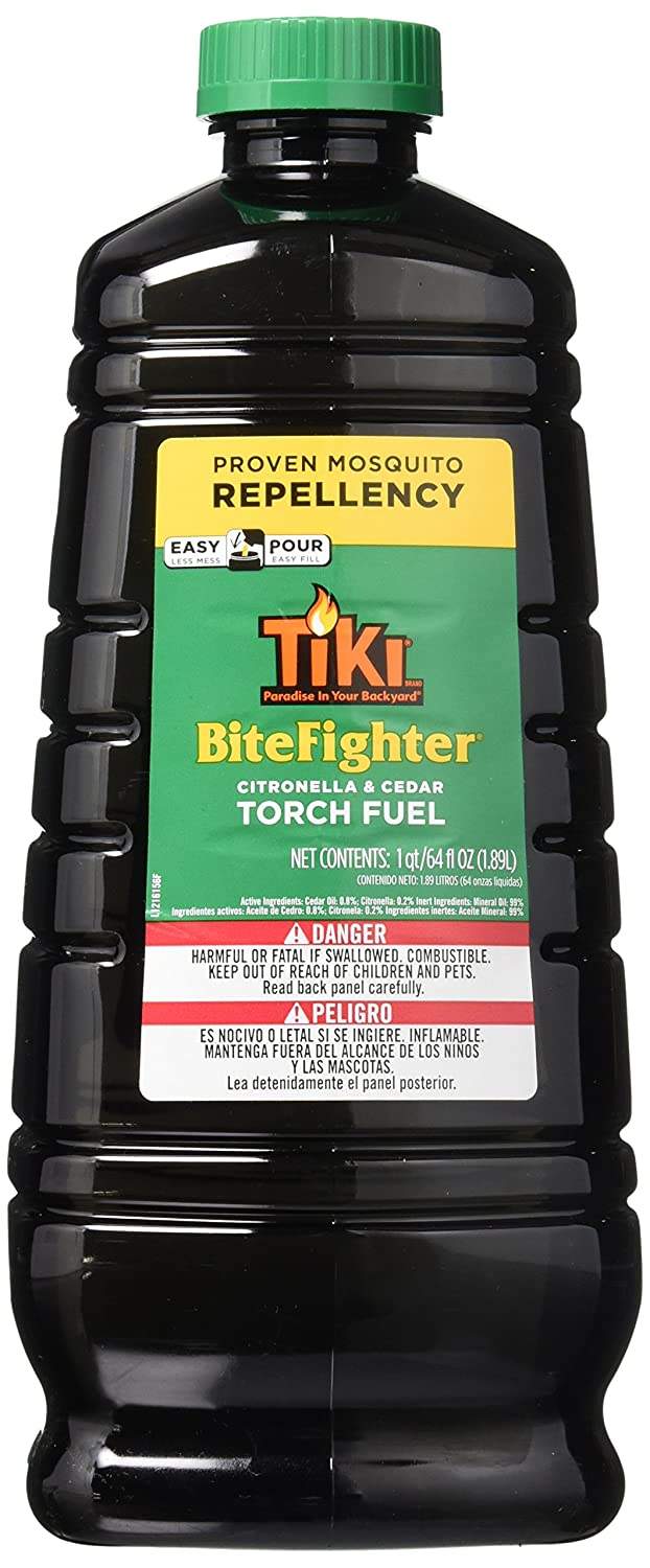 Amazon.com : Tiki Brand 64 oz. BiteFighter Torch Fuel with Easy Pour System - 2 Pack : Sports & Outdoors