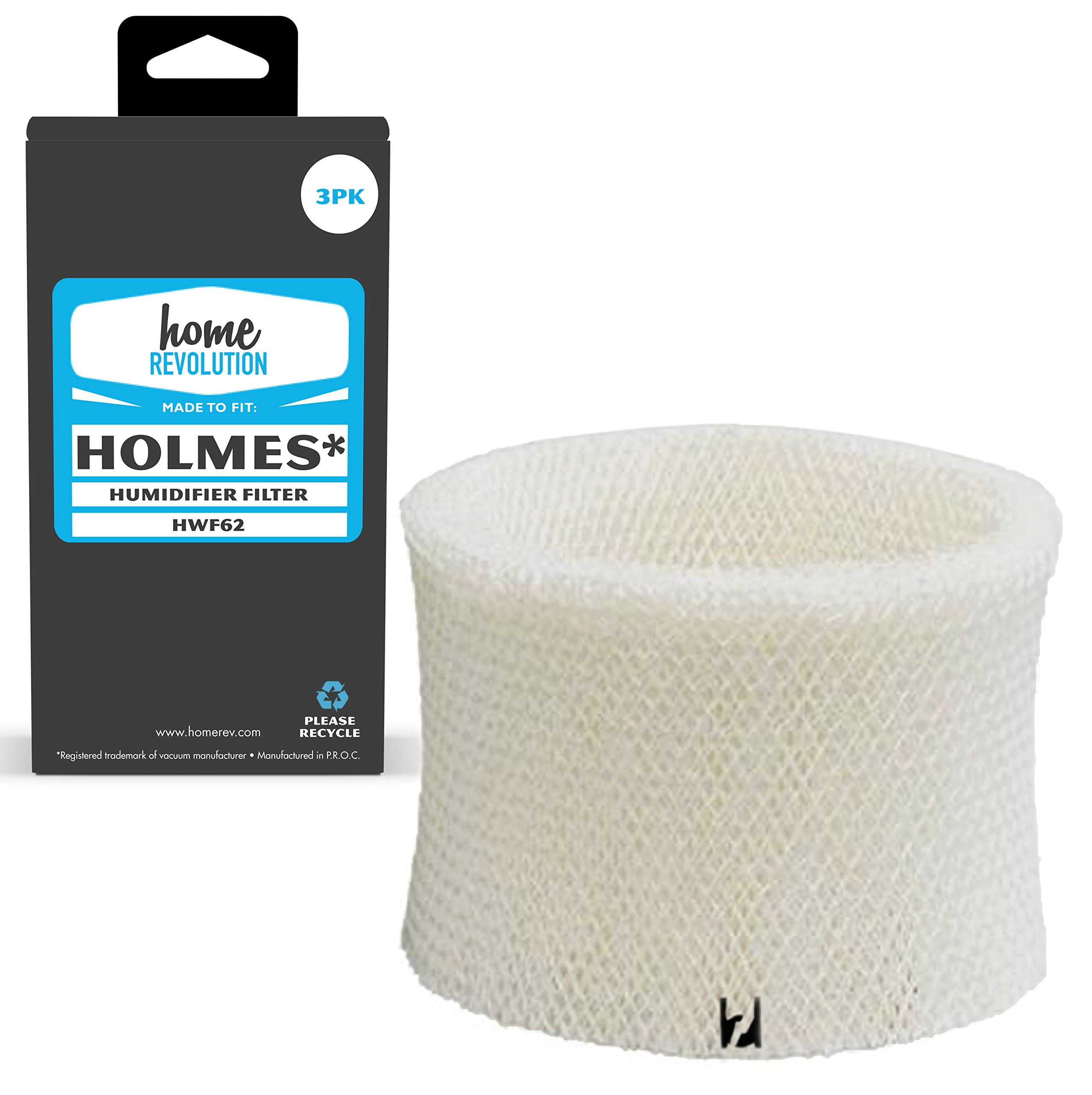 Home Revolution 3 Replacement Humidifier Filters, Fits Part HWF62 Filter A & Holmes, Honeywell, Sunbeam and Vicks Humidifiers by Home Revolution