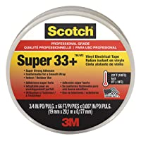 Deals on Scotch Super 33+ Vinyl Electrical Tape, 6132-BA-10 66-Ft