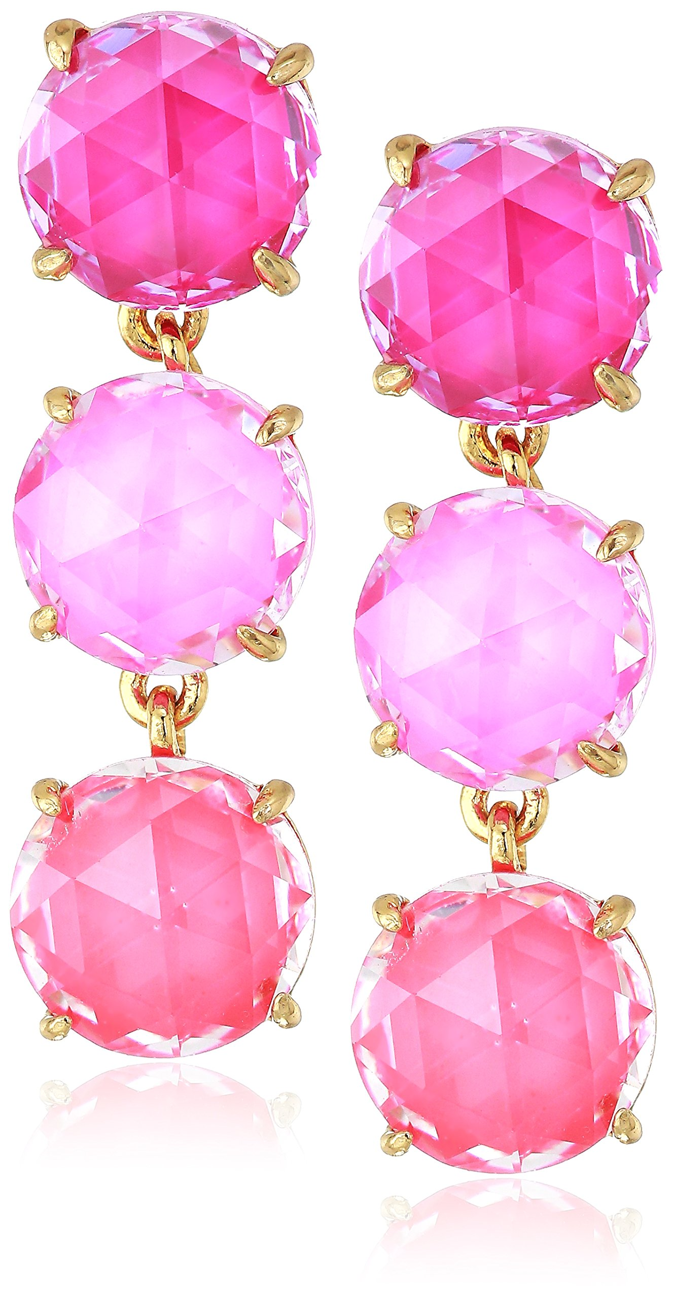kate spade new york Womens Triple Drop Earrings, Pink Multi