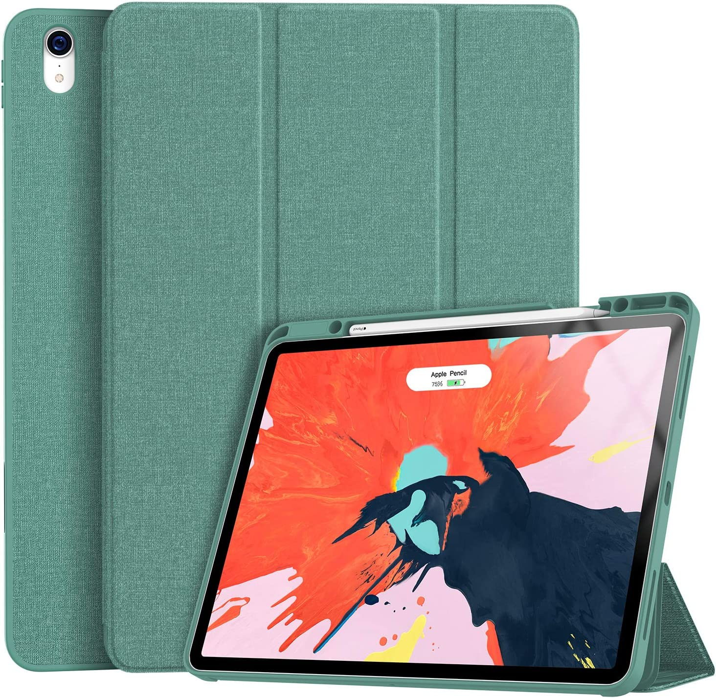Premium Trifold Case Soke Ipad Pro 12.9 Case 2018 With Pencil Holder Strong Pr