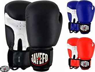 Jayefo Topper Leather Boxing Gloves Muay Thai Sparring Training Gloves  Punching Gloves Heavy Title Bag Gloves df0887489f252