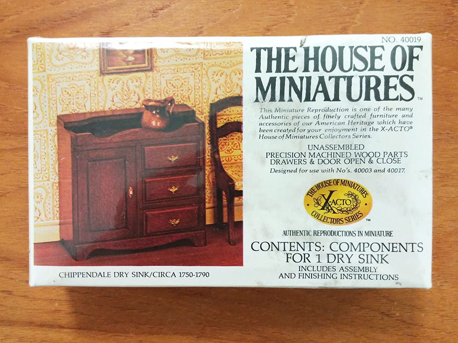 Dollhouse Furniture- Chippendale Dry Sink Circa 1750-1790 #40019 Assembled (The House of Miniatures)