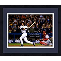 """Framed Aaron Boone New York Yankees Autographed 8"""" x 10"""" Hitting Photograph with""""03 ALCS GW HR"""" Inscription… photo"""