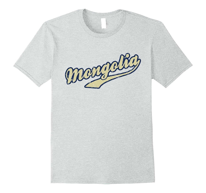 Mongolia T-Shirt I Vintage Team Style Tee-Vaci