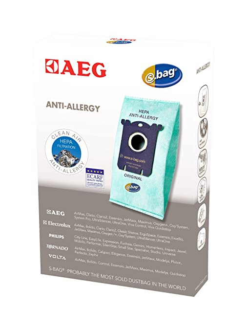 AEG GR 206 - Bolsas para aspiradora para Menalux 1800 (S-bag Anti Allergy, 4 unidades)