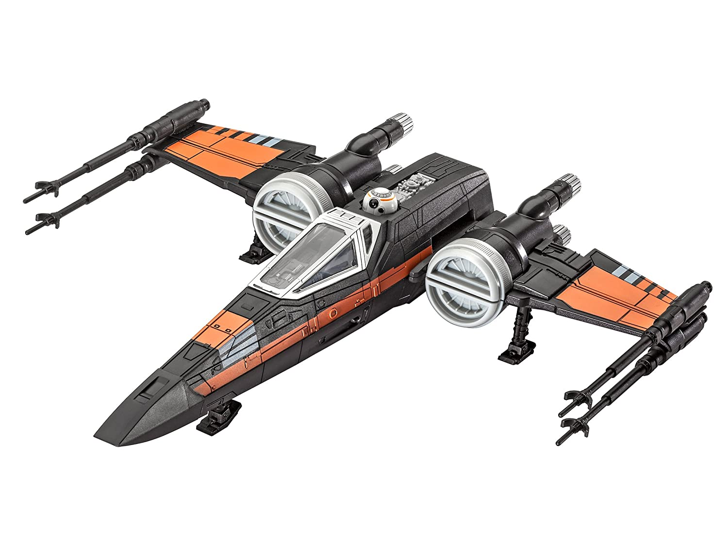 Revell-Contro 1//78 Build /& Play Poes X Wing Fighter Colore Nero RV06750