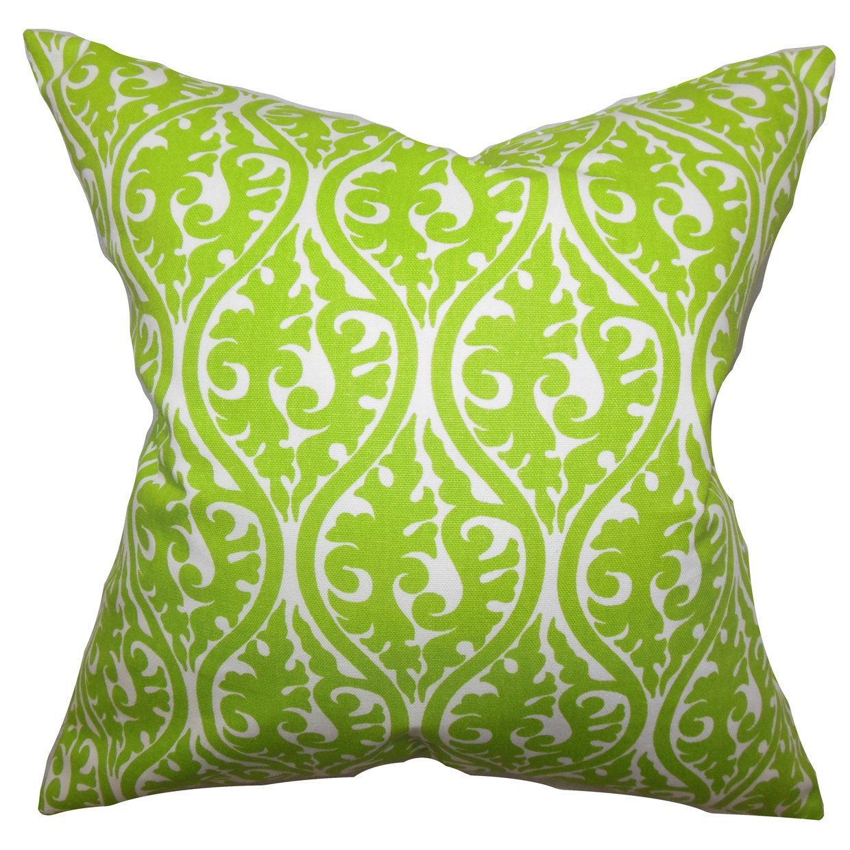 The Pillow Collection Mechria Geometric Bedding Sham Chartreuse Green European//26 x 26