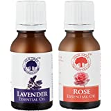 Lavender and Rose Essential Oil Combo, 15ml each