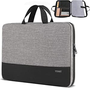 Laptop Sleeve Case, 13.3 inch TSA Slim Laptop Case Cover, Durable Business Briefcase Handle Bag Water Resistant Laptop Case for 13-13.3 inch MacBook Pro, MacBook Air, HP Dell Lenovo Notebook, Grey