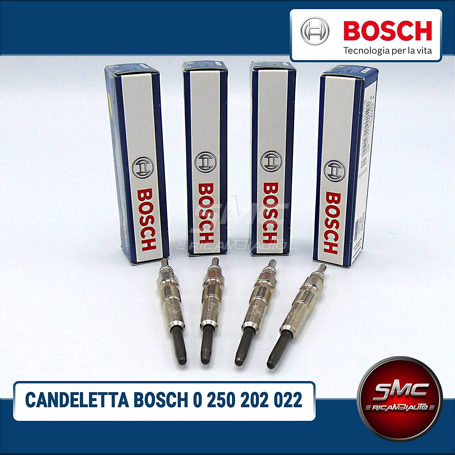 0250202022/ Kit 4/ bougies originales Bosch