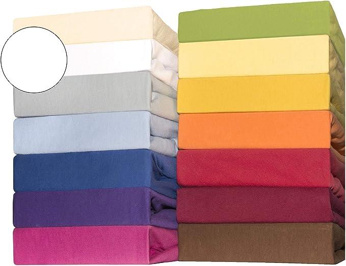 CelinaTex Lucina bebés niños sábanas Ajustables Camas para bebé Camas para niños algodón 60x120-70x140 cm Blanco Nieve