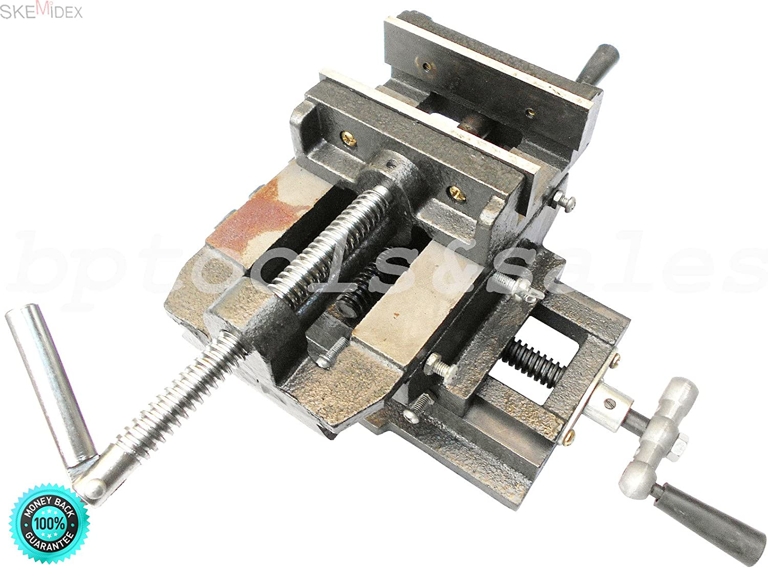 """4/"""" Cross Drill Press Vise Slide Metal Milling 2 Way Clamp Vice Woodworking Tools"""