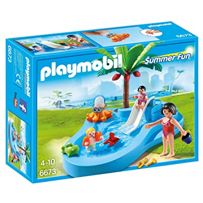 PLAYMOBIL Baby Pool with Slide: Toys & Games