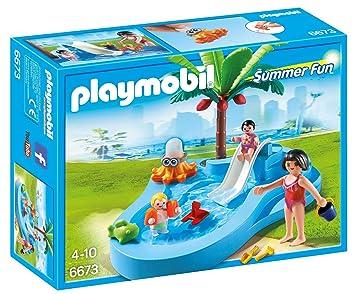 Playmobil 6673 Bassin Pour Bbs Et Mini Toboggan Amazon Fr Jeux