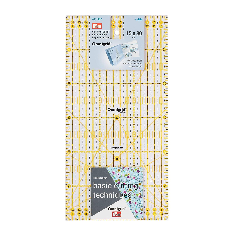 Prym 611307 - Righello per taglierina a rotella, 15 x 30 cm Prym_611307-1