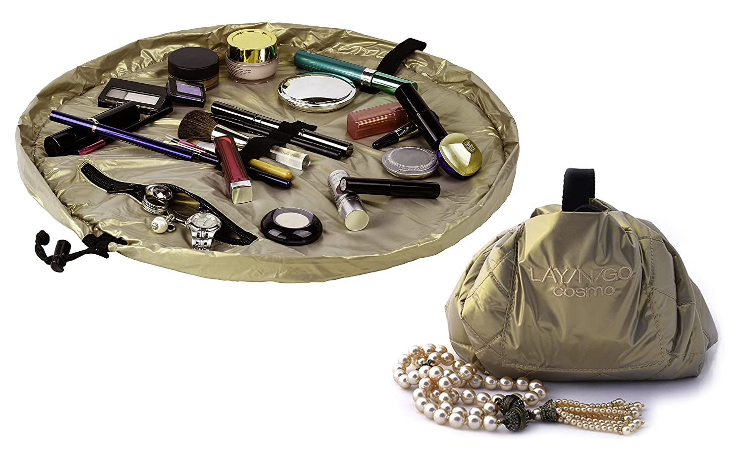 Lay-N-Go Cosmo Makeup Kit, 20-Inch, Gold 3209