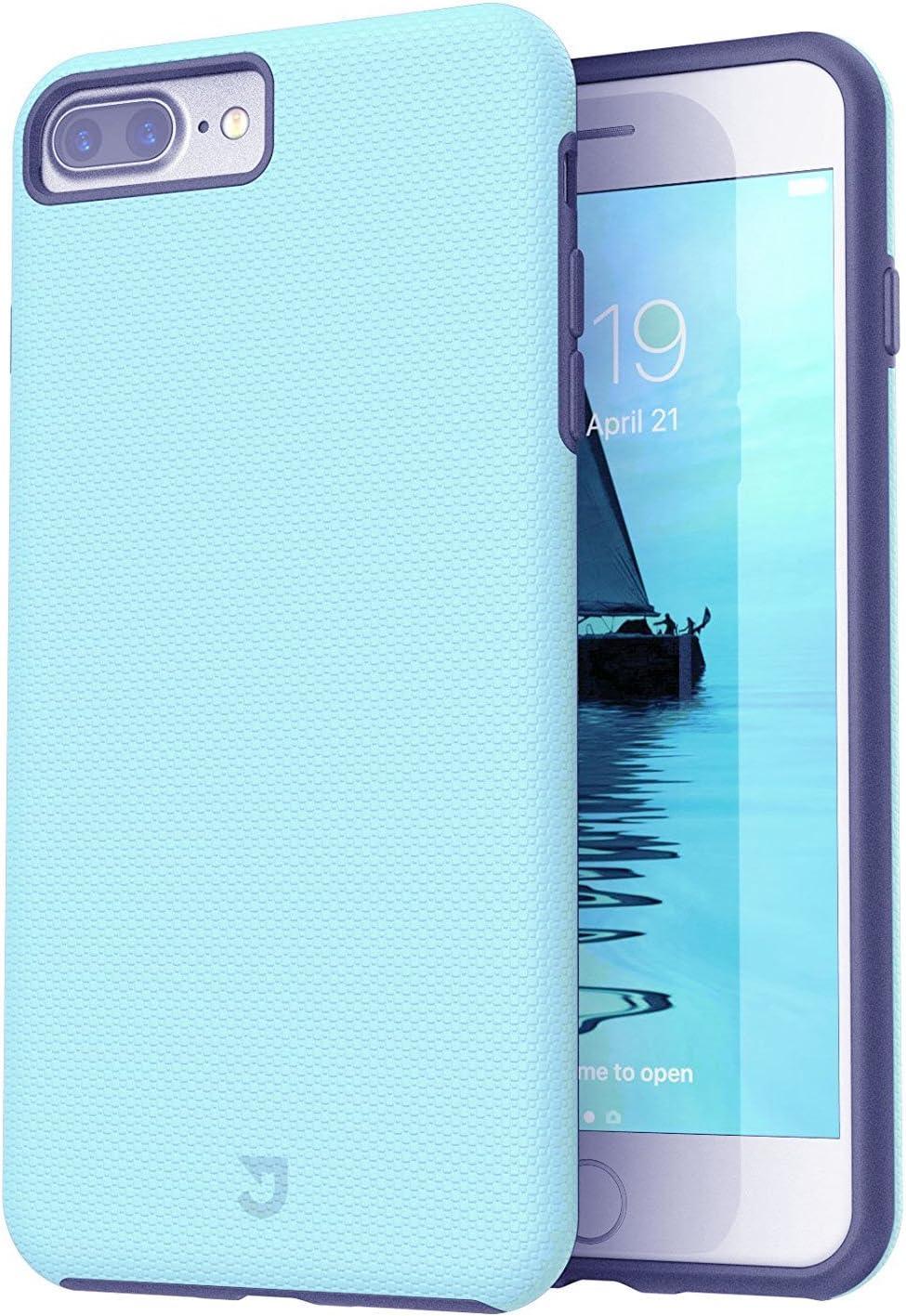 iPhone 8 Plus Case, iPhone 7 Plus Case, Rugged Shock Modern Slim Non-Slip Grip Cell Phone Cases for Apple iPhone 8 Plus (Aqua)