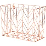 U Brands Hanging File Desk Organizer, Wire Metal, Copper