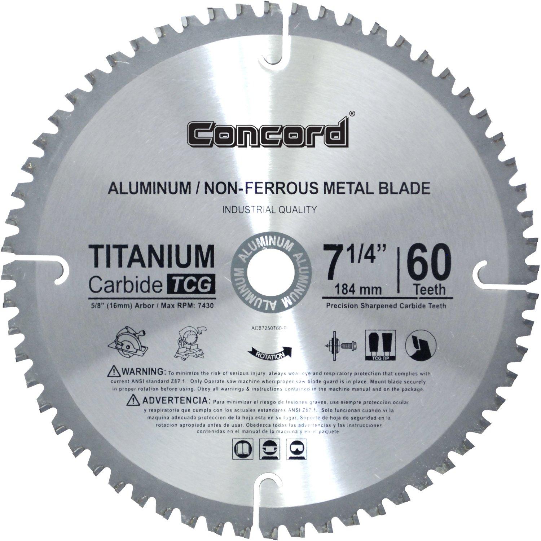 Disco Sierra CONCORD ACB0725T060HP 7 1/4 60T TCT Metal no