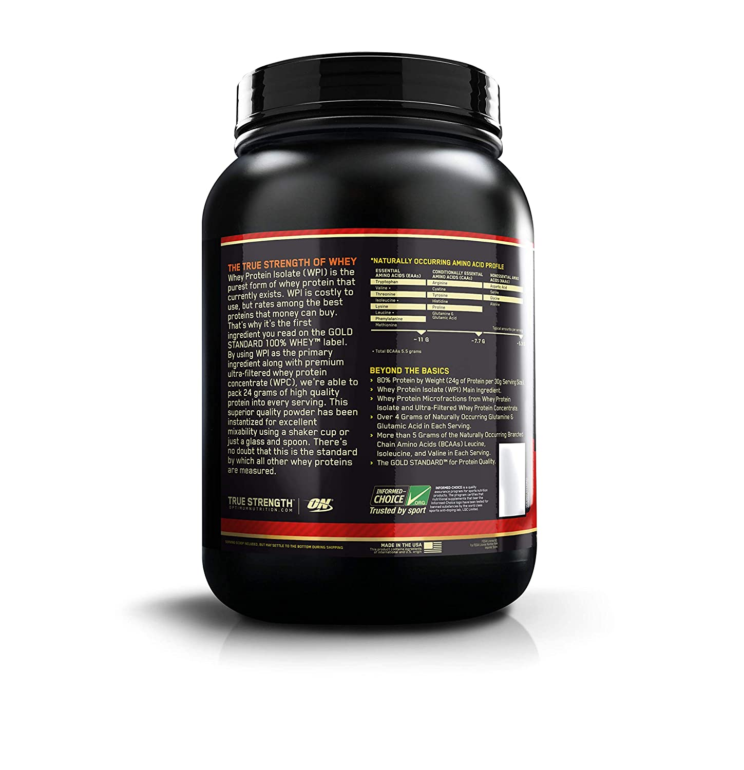 40238fb87 Optimum Nutrition (ON) Gold Standard 100% Whey Protein Powder - 2 ...