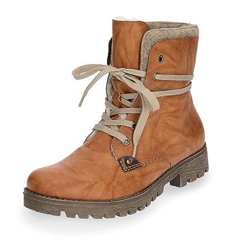 Rieker Damen Stiefel gefüttert Braun  Rieker   Rieker Amazon   Schuhe ... 302629