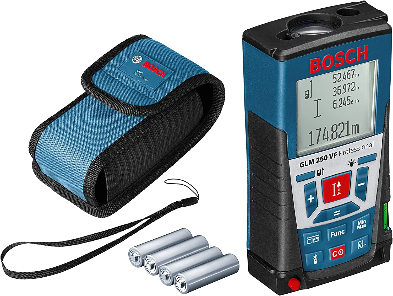 R0  avec rallonge inclinom/ètre sac de transport et chargeur 0601072301 Bosch Professional T/él/ém/ètre laser GLM 80